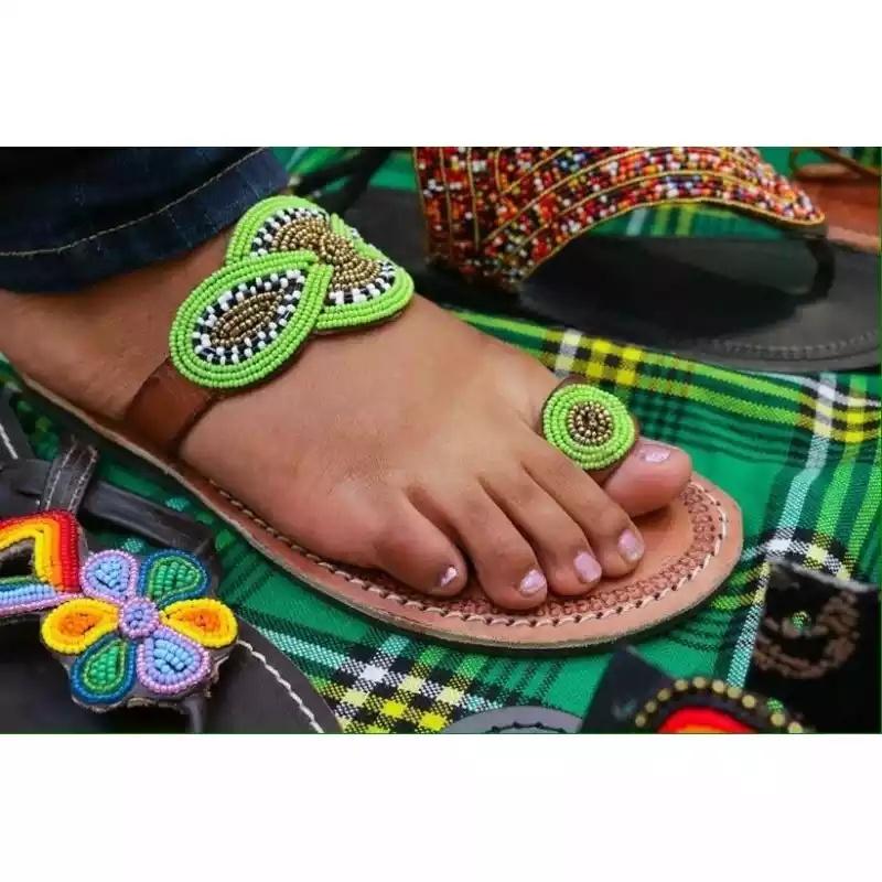 0843de13fbad Buy quality African made Maasai Beaded Sandals from Maasai kikoi ...